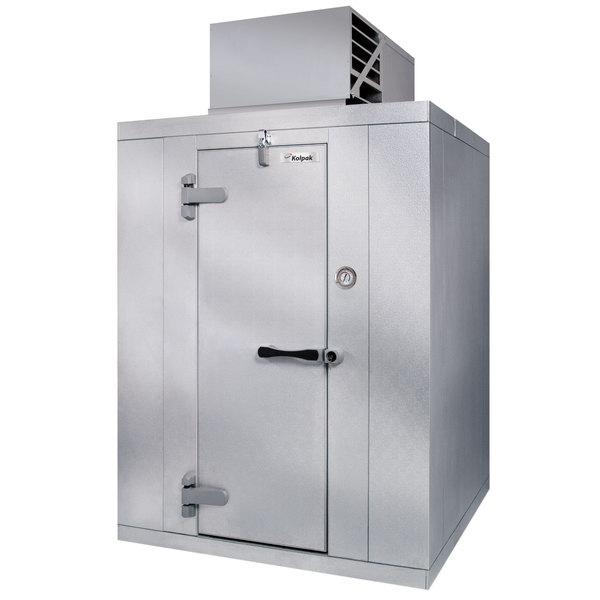 Left Hinged Door Kolpak PX6-128-CT Polar Pak 12' x 8' x 6' Floorless Indoor Walk-In Cooler with Top Mounted Refrigeration
