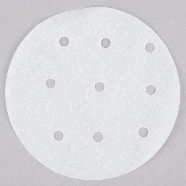 """Choice 4"""" Perforated Round Steamer Paper - 500/Box Main Image 1"""