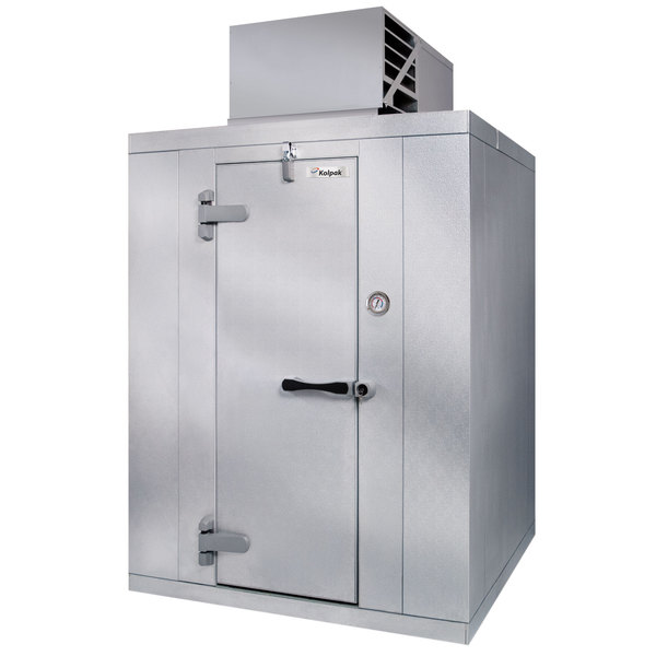 Left Hinged Door Kolpak PX6-066-CT Polar Pak 6' x 6' x 6' Floorless Indoor Walk-In Cooler with Top Mounted Refrigeration