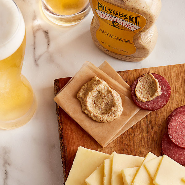 Pilsudski 12 oz. Polish Style Horseradish Mustard Squeeze Bottle - 12/Case Main Image 2