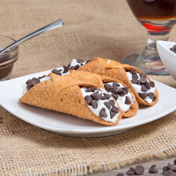 Vaccaro's Desserts 10 Gram Mini Cannoli Shells - 48/Case Main Image 4