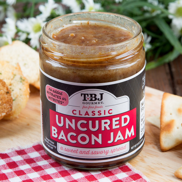 TBJ Gourmet 9 oz. Classic Uncured Bacon Jam Spread - 6/Case Main Image 4