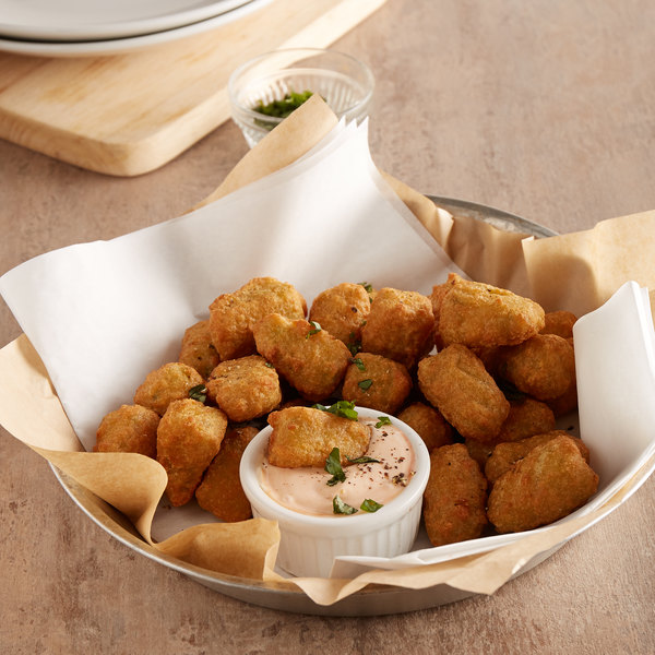 2 lb. Bag Battered Broccoli and Cheddar Cheese Bites - 6/Case