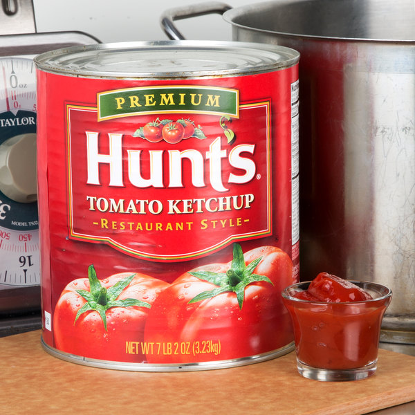 Hunt's #10 Premium Restaurant Style Tomato Ketchup Can - 6/Case Main Image 2