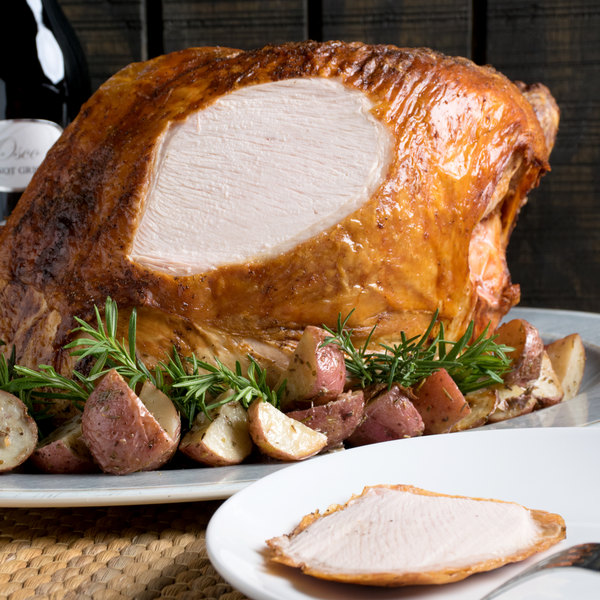 Butterball 5 lb. Skin-On Cook-In Bag Petite Turkey Breast Roast - 6/Case