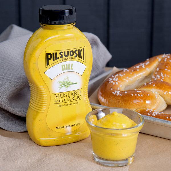 Pilsudski 12 oz. Dill Garlic Mustard Squeeze Bottle - 12/Case