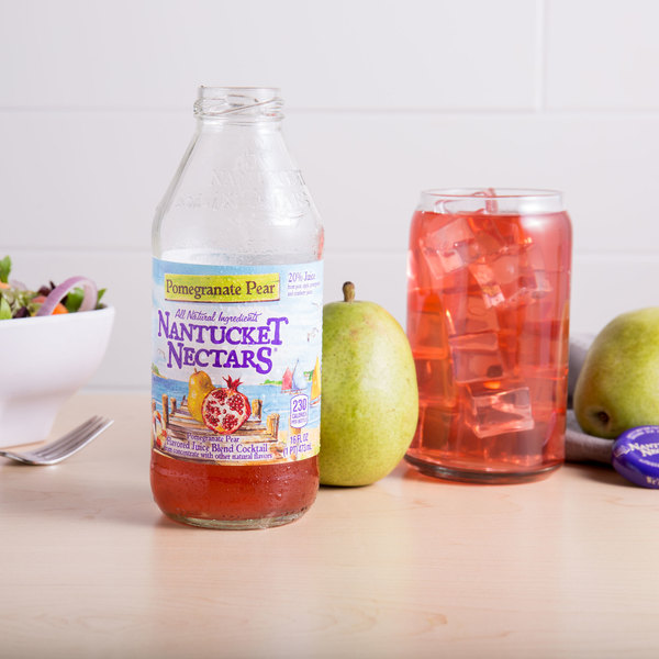 Nantucket Nectars 16 fl. oz. Pomegranate Pear Juice Cocktail - 12/Case Main Image 4