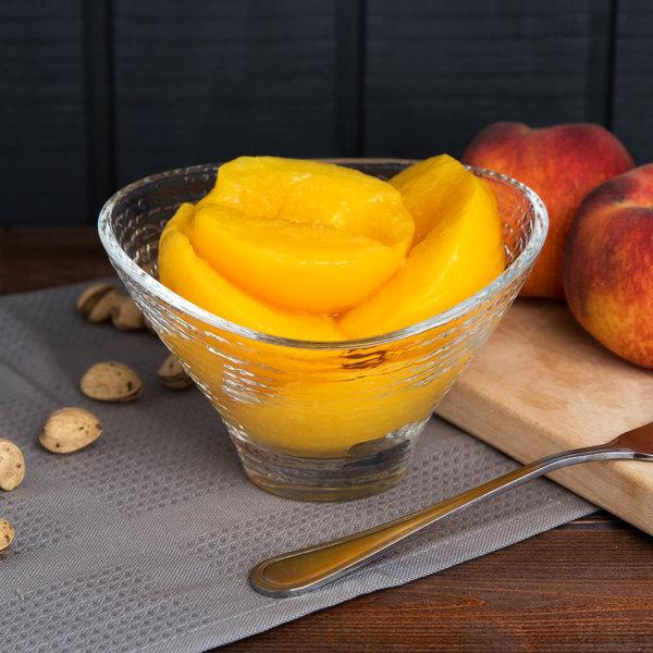 Kime's 28 oz. Premium No Sugar Added Canned Peach Halves - 24/Case Main Image 5