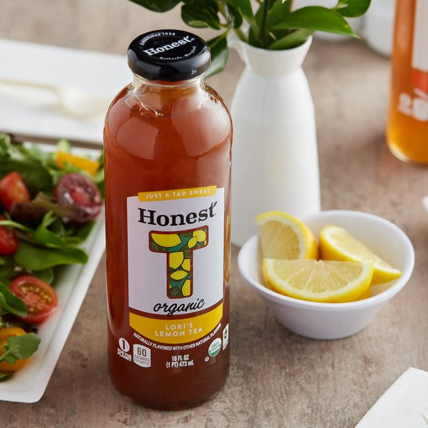 Honest Tea 16 fl. oz. Organic Sweetened Lori's Lemon Iced Tea - 12/Case Main Image 2