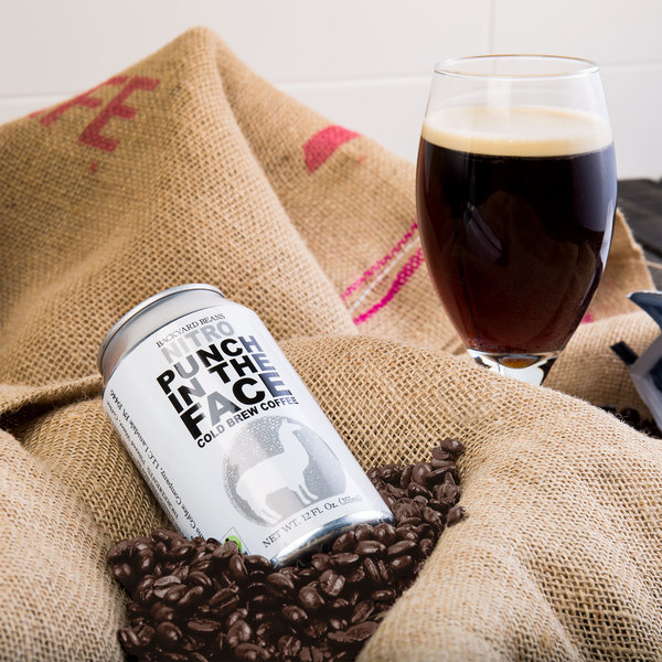 Backyard Beans 12 oz. Nitro Punch in the Face Cold Brew Coffee - 12/Case