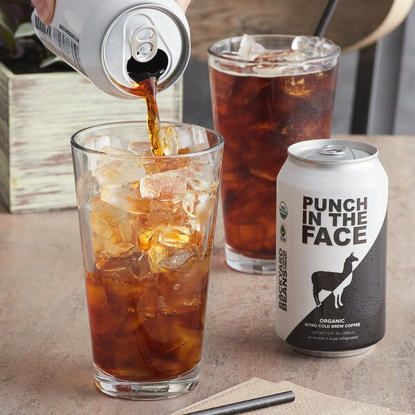 Backyard Beans 12 fl. oz. Organic Nitro Punch in the Face Cold Brew Coffee - 12/Case Main Image 2