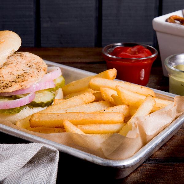 "Bonanza 4.5 lb. 3/8"" Grade A Long Fancy Regular Straight Cut French Fries - 6/Case"
