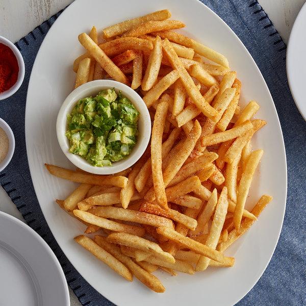 "Bonanza 4.5 lb. 3/8"" Grade A Long Fancy Regular Straight Cut French Fries - 6/Case Main Image 2"
