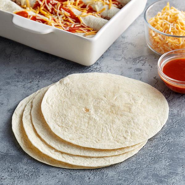 "Father Sam's Bakery 12-Count 8"" Flour Tortilla Wraps - 12/Case Main Image 2"