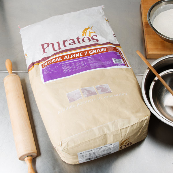 Puratos Tegral Alpine 7-Grain Bread Mix - 50 lb. Main Image 4