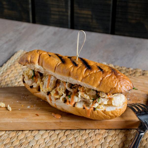 Levan Bros 26 Count Case Of 6 Oz Chicken Steak Sandwich Slices 10 Lb