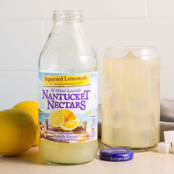 Nantucket Nectars 16 fl. oz. Squeezed Lemonade - 12/Case Main Image 4