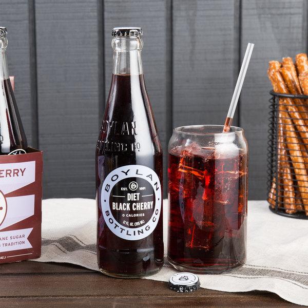 Boylan Bottling Co. 12 oz. Diet Black Cherry Soda - 24/Case