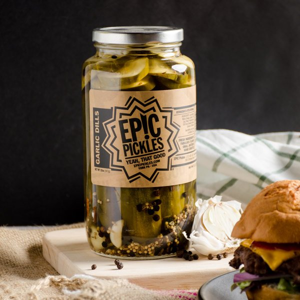 Epic Pickles 32 oz. Garlic Dill Pickles - 12/Case Main Image 5