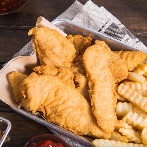Garimark Foods 5 lb. Bag of RTC Golden Select Breaded Chicken Breast Tenders - 2/Case