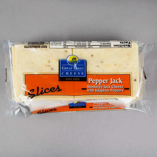 Great Lakes Cheese 1 5 lb  Pepper Jack Cheese Slices