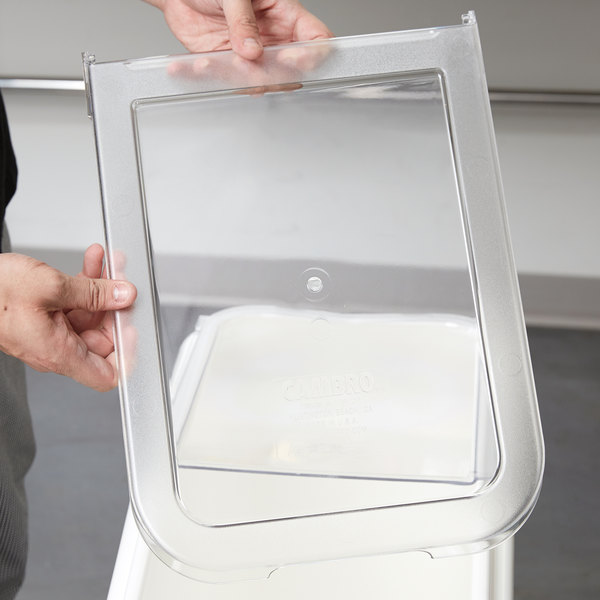 Cambro 60432 Lid Front Section for IBS20 and IBSF27 Ingredient Bins Main Image 6