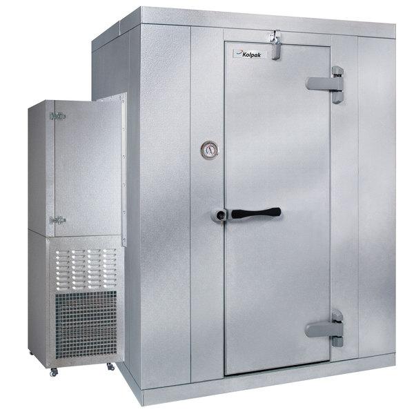 Right Hinged Door Kolpak PX6-088-CS Polar Pak 8' x 8' x 6' Floorless Indoor Walk-In Cooler with Side Mounted Refrigeration