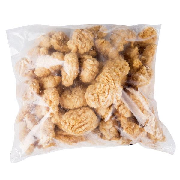 Garimark Foods 5 lb. Homestyle Boneless Chicken Breast Tenderloin Chunk Fritters - 2/Case