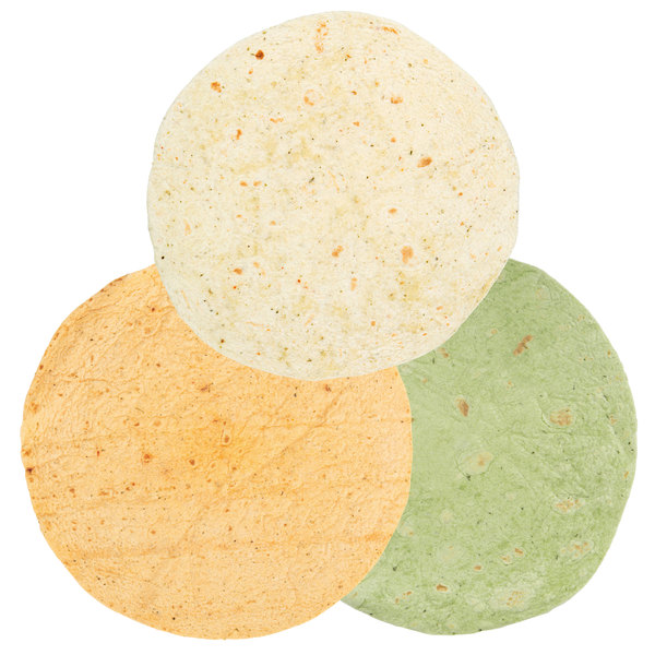 "Mission 12-Pack 12"" Assorted Variety Tortilla Wraps - 6/Case"
