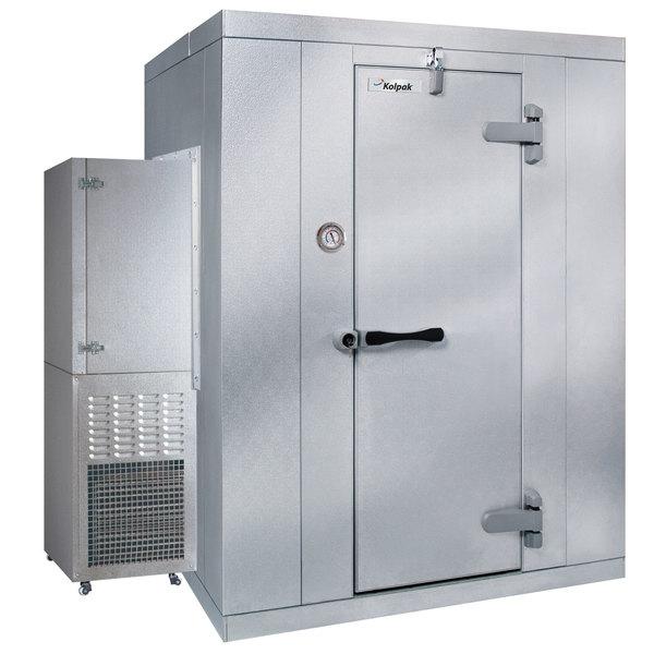 Right Hinged Door Kolpak P7-066-FS-OA Polar Pak 6' x 6' x 7' Outdoor Walk-In Freezer with Side Mounted Refrigeration