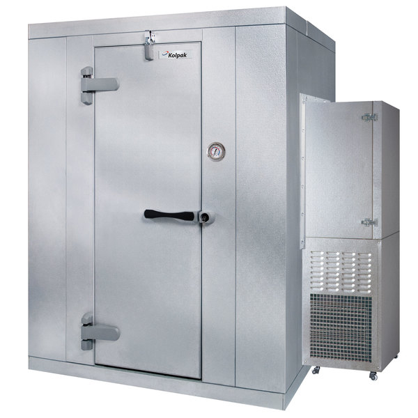 Left Hinged Door Kolpak P6-066-CS-OA Polar Pak 6' x 6' x 6' Outdoor Walk-In Cooler with Side Mounted Refrigeration