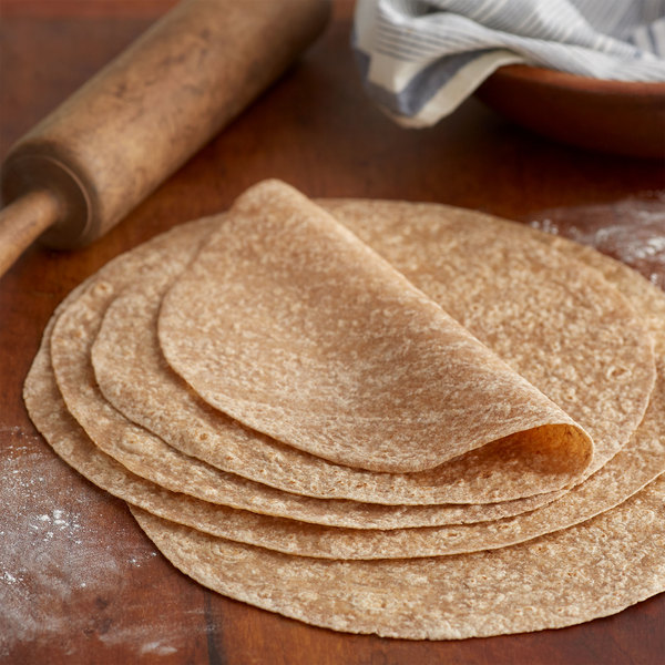 "Mission 12-Pack 12"" Whole Wheat Pressed Tortilla Wraps - 6/Case"