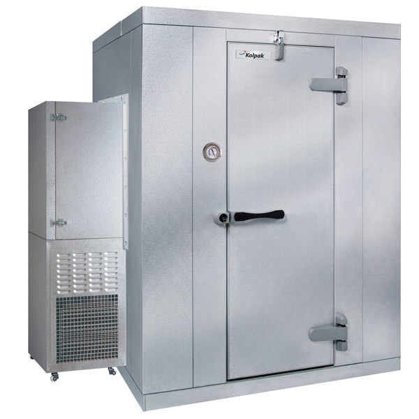 Right Hinged Door Kolpak P6-066-FS-OA Polar Pak 6' x 6' x 6' Outdoor Walk-In Freezer with Side Mounted Refrigeration