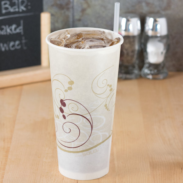 Dart Solo RS22N-J8000 Symphony 22 oz. Wax Treated Paper Cold Cup - 50/Pack