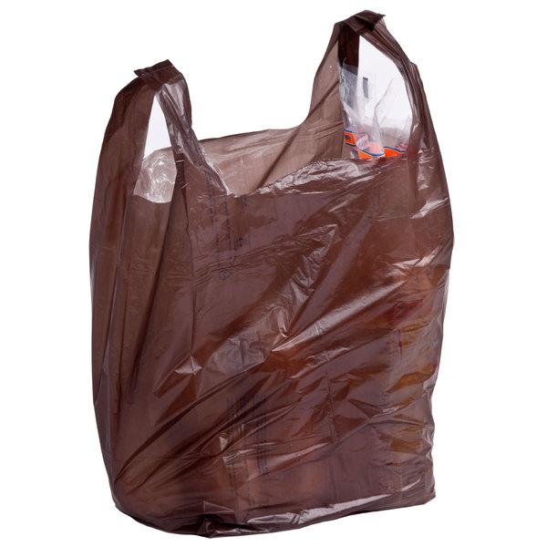 1/6 Size Brown T-Shirt Bag - 1000/Case Main Image 4