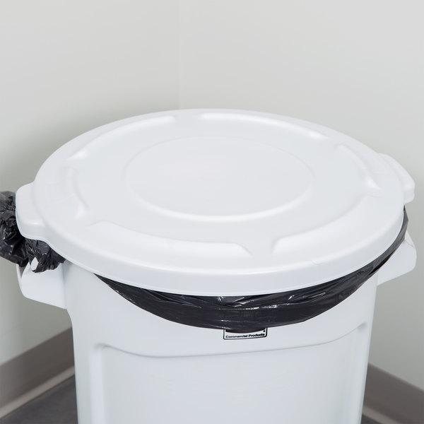 Rubbermaid Fg261960wht Brute White 20 Gallon Trash Can Lid