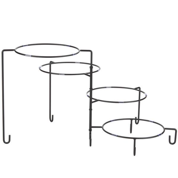 Tablecraft BKP4 4 Tier Metal Display Stand Black Main Image 1