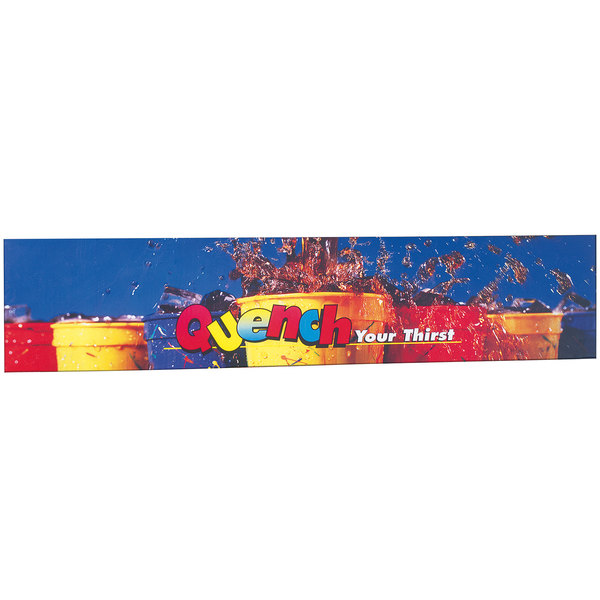 """Servend 2705415 24"""" High """"Quench Your Thirst"""" Extended Merchandising Sign Main Image 1"""