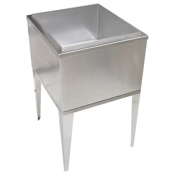 Servend 96-1100-8 1522 Freestanding Post-Mix 60 lb. Ice Chest with Cold Plate Main Image 1