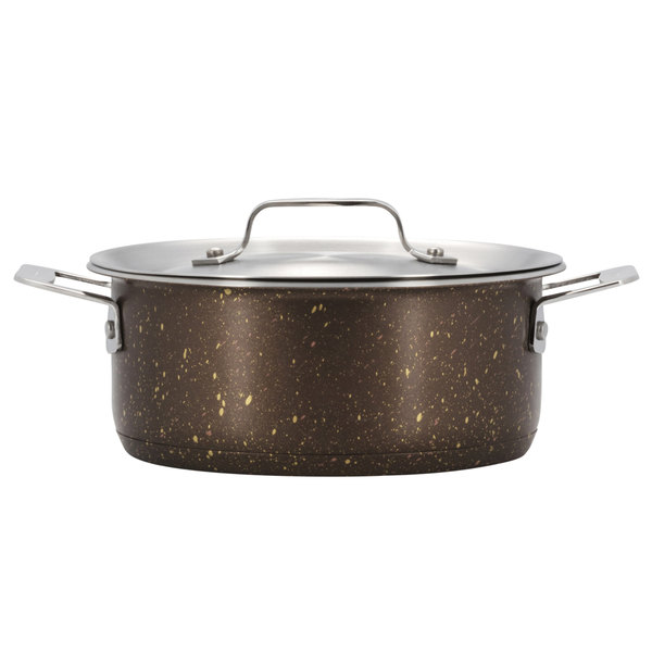 Bon Chef 60027COFFEE Cucina 36 oz. Coffee Stainless Steel Induction Pot with Lid Main Image 1