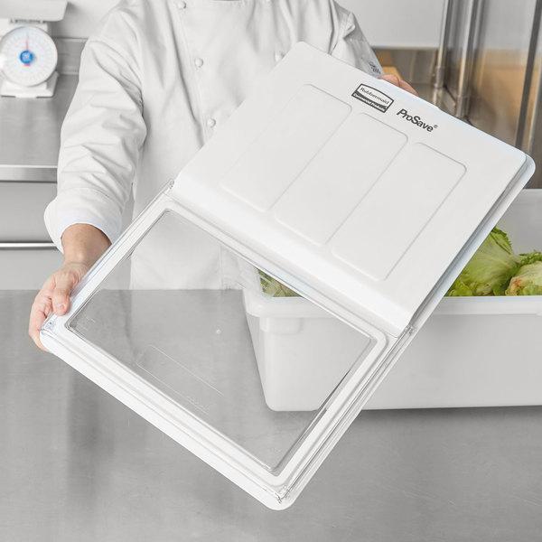 "Rubbermaid FG331100CLR ProSave Dual Action Food Storage Box Lid - 26"" x 18"""