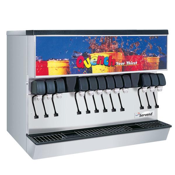 Servend 2706221 MDH-302 12 Valve Sanitary Lever Countertop Ice/Beverage Dispenser with 300 lb. Ice Storage Main Image 1
