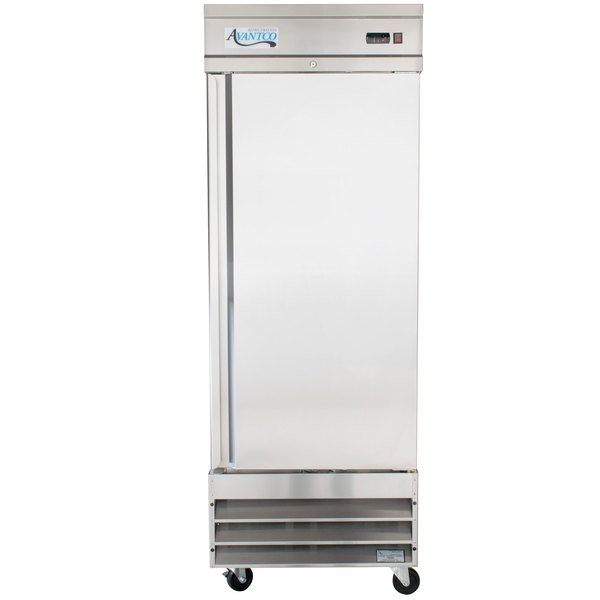 Avantco CFD-1RR 29 inch One Section Solid Door Reach in Refrigerator