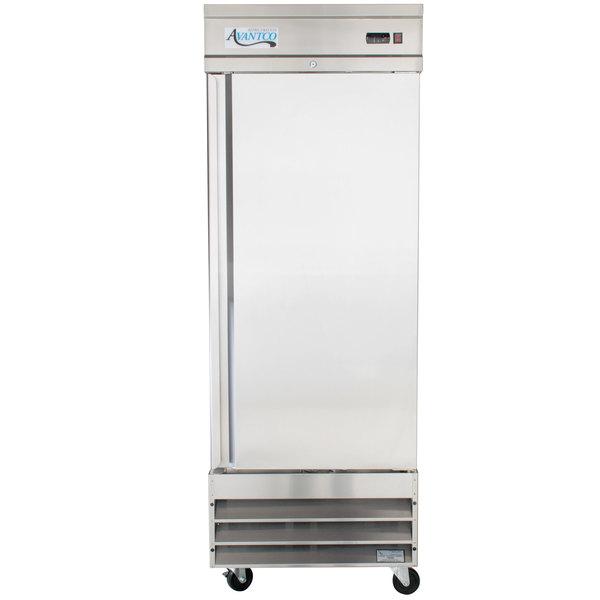 Avantco CFD-1RR 29 inch One Section Solid Door Reach in Refrigerator - 23 Cu. Ft.