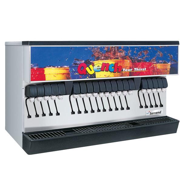 Servend 2706240 MDH-402 20 Valve Sanitary Lever Countertop Ice/Beverage Dispenser with 400 lb. Ice Storage Main Image 1