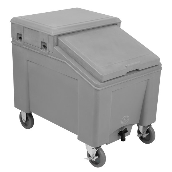 IRP 3110006 Grey Ice Caddy 100 lb. Mobile Ice Bin