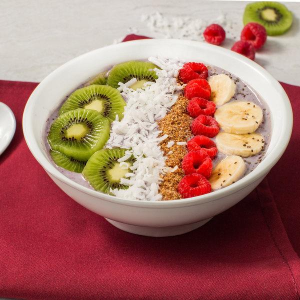 Acopa 25 oz. Bright White Porcelain Menudo / Pasta / Salad Bowl - 12/Case Main Image 4