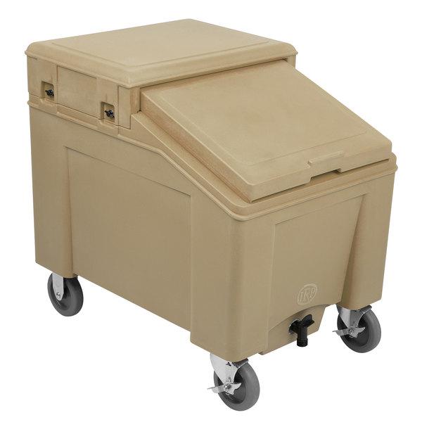 IRP 3110002 Tan Ice Caddy 100 lb. Mobile Ice Bin