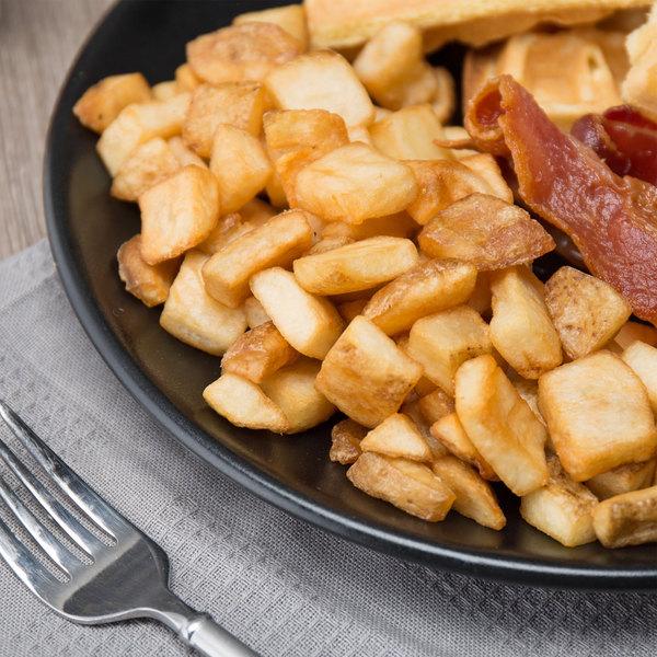 Lamb Weston 6 lb. Private Reserve Skin-On Breakfast Potato Cubes - 6/Case Main Image 7
