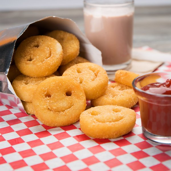 McCain Foods Smiles Crispy Mashed Potato Fries 4 lb. Bag - 6/Case Main Image 4